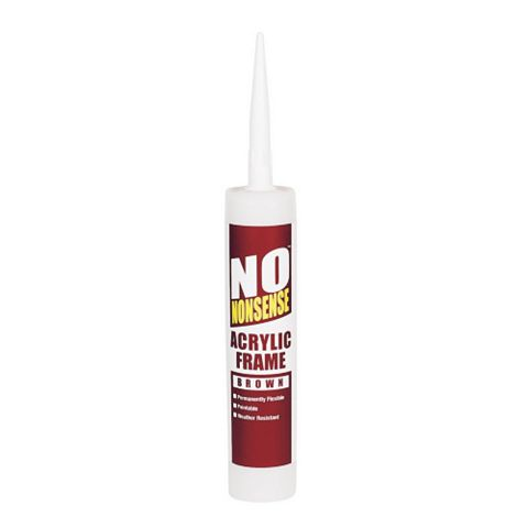 No Nonsense Sealing & Filling Gaps & Cracks Glazing & Frame Sealant Brown, 310ml
