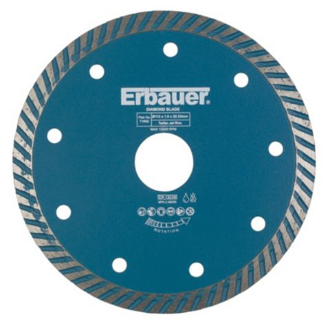 Erbauer (Dia)115mm Continuous Segments Turbo Blade