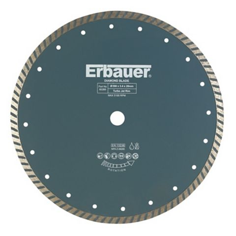 Erbauer (Dia)300mm Continuous Segments Turbo Blade
