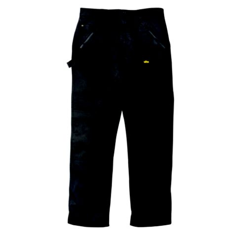 Site Beagle Black 65% Polyester, 35% Cotton Twill Trousers W36