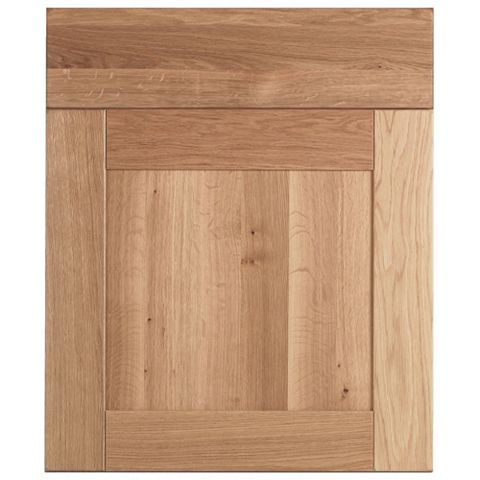 Cooke & Lewis Chesterton Solid Oak Drawerline Door & Drawer Front (W)600mm, Set of 1 Door & 1 Drawer Pack