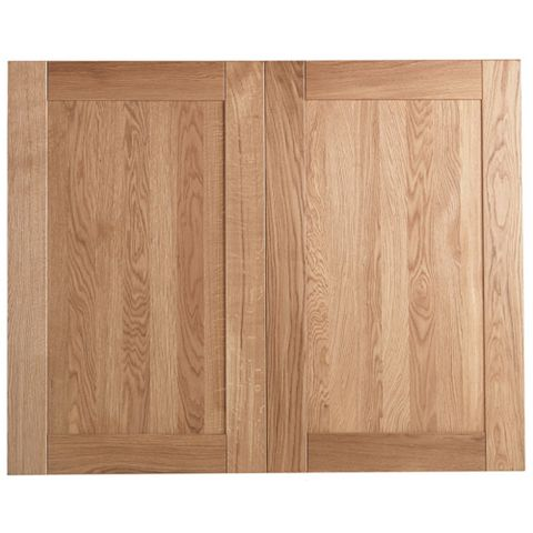 Cooke & Lewis Chesterton Solid Oak Larder Door (W)600mm, Set of 2