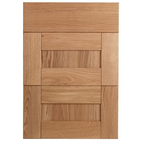 Cooke & Lewis Chesterton Solid Oak Drawer Front (W)500mm, Set of 3