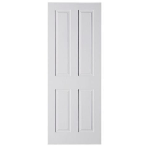 4 Panel Primed Internal Door, (H)2032mm (W)813mm