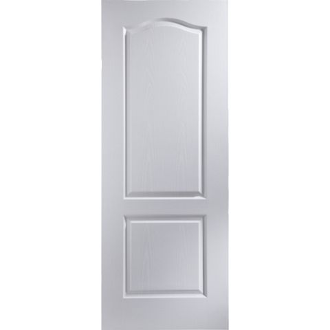 2 Panel Arched Pre-Painted White Internal Door, (H)1981mm (W)610mm