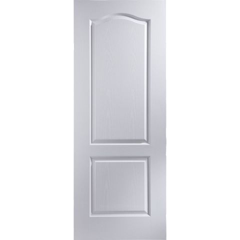 2 Panel Arched Pre-Painted White Internal Door, (H)1981mm (W)762mm