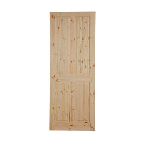 4 Panel Knotty Pine Internal Door, (H)1981mm (W)838mm