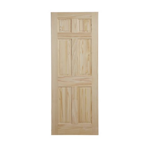 6 Panel Clear Pine Internal Door, (H)2032mm (W)813mm