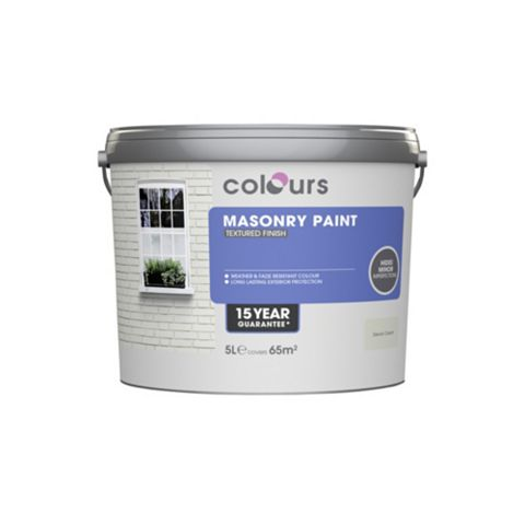 Colours Devon Cream Matt Masonry Paint 5000ml