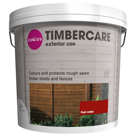 Colours Shed & Fence Stain Red Cedar, 5L
