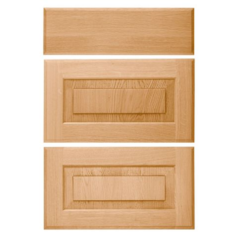 Cooke & Lewis Chesterton Solid Oak Classic Drawer Front (W)500mm, Set of 3