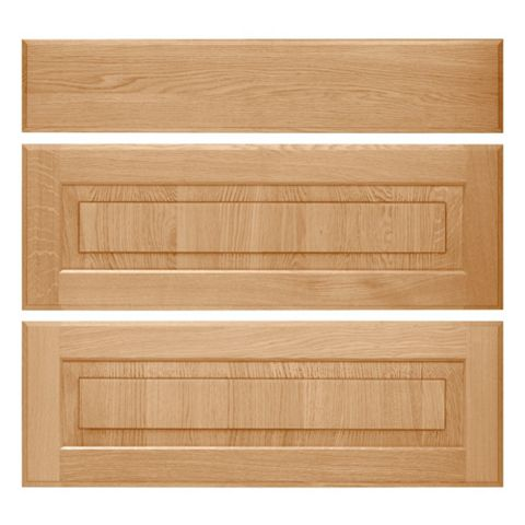 Cooke & Lewis Chesterton Solid Oak Classic Pan Drawer Front (W)800mm, Set of 3
