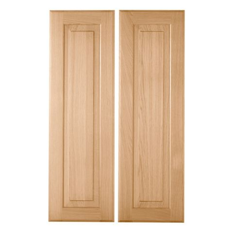 Cooke & Lewis Chesterton Solid Oak Classic Larder Door (W)300mm, Set of 2