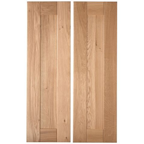 Cooke & Lewis Chesterton Solid Oak Larder Door (W)300mm, Set of 2
