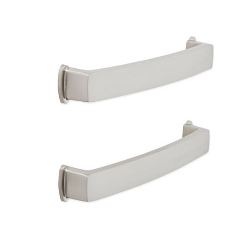 Cooke & Lewis Stainless Steel Effect Flat Cabinet Handle, Pack of 2