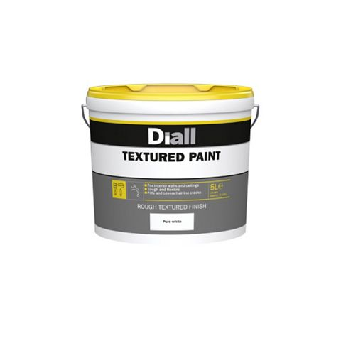 Pure White Textured Masonry Paint 5L