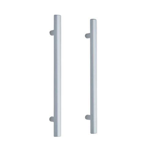 IT Kitchens Brushed Aluminium Effect Rod Cabinet Handle, Pack of 2