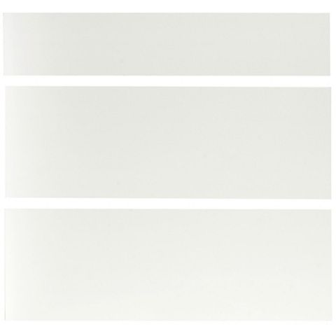 IT Kitchens Santini Gloss White Slab Pan Drawer Front (W)800mm, Set of 3