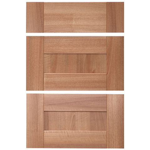 IT Kitchens Westleigh Walnut Effect Shaker Drawer Front (W)500mm, Set of 3