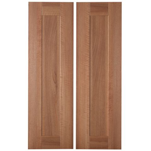 IT Kitchens Westleigh Walnut Effect Shaker Larder Door (W)300mm, Set of 2