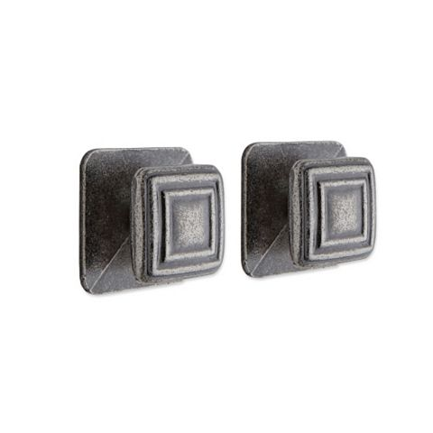 IT Kitchens Pewter Effect Square Cabinet Knob (L)28mm, Pack of 1