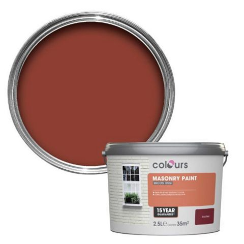 Colours Brick Red Smooth Masonry Paint 2.5L