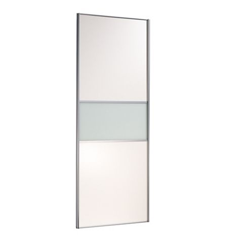 Contemporary Silver Sliding Wardrobe Door (H)2222 mm (W)914 mm