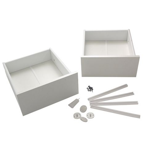 Spacepro White Wardrobe Drawer Pack (W)340mm