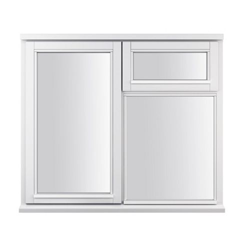 Glazed Timber LH Side Hung with Top Vent over Fixed Lite Casement Window 1045 x 1195 mm