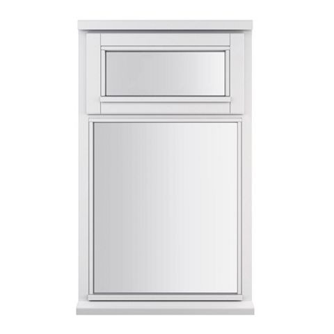 Glazed Timber Top Hung over Fixed Lite Casement Window 895 x 625 mm