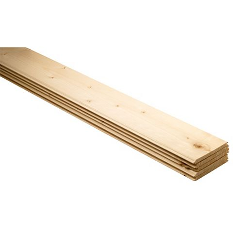 Softwood Unfinished Cladding 1800X95X7.5mm Pack of 5