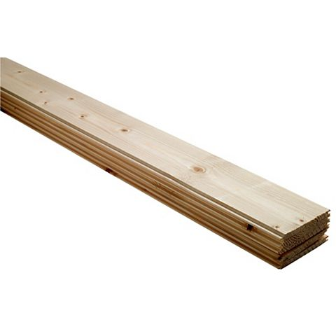 Softwood Unfinished Cladding 890X95X7.5mm Pack of 5