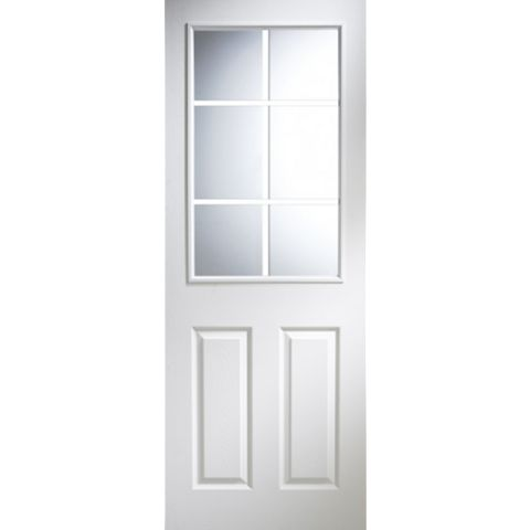 6 Panel Pre-Painted White Internal Door, (H)1981mm (W)762mm
