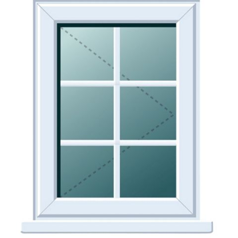 PVCu Georgian RH Side Hung Window 820 x 620 mm