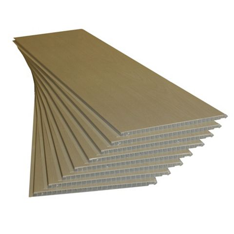 White Ash Effect Cladding 1200X250X10mm Pack of 8