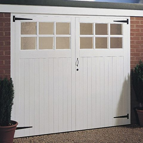 Side Hung Garage Door Pair, (H)1981mm (W)2134mm
