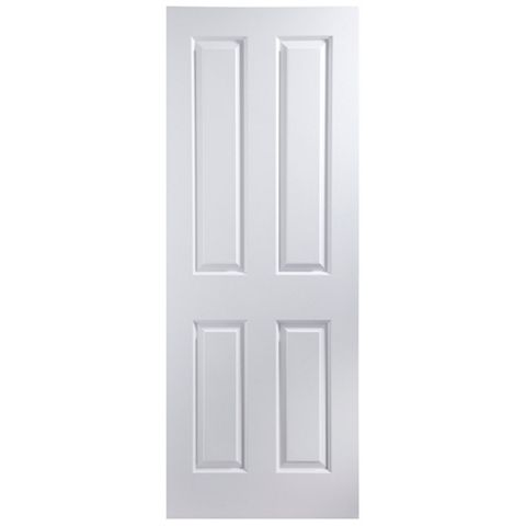 4 Panel Primed Internal Door, (H)1981mm (W)762mm