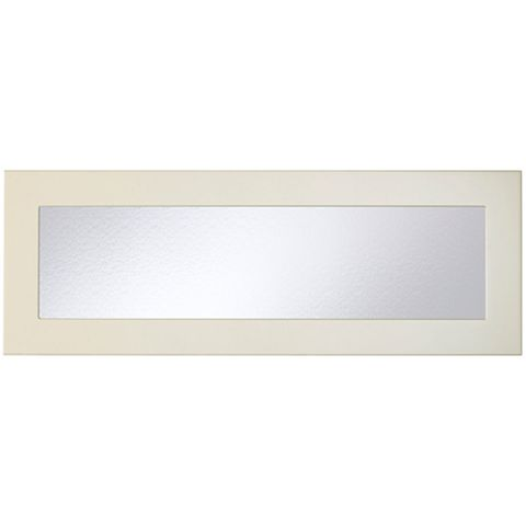 Cooke & Lewis Raffello High Gloss Cream Slab Glazed Bridging Door / Pan Drawer Front (W)1000mm