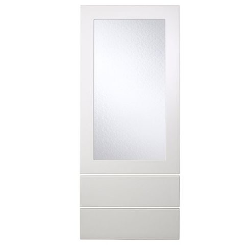 Cooke & Lewis Raffello High Gloss White Slab Dresser Door & Drawer Front (W)500mm, Set of 3