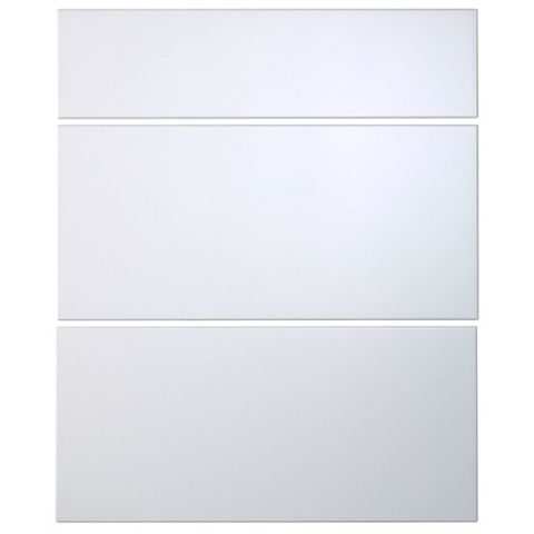 Cooke & Lewis Raffello High Gloss White Slab Drawer Front (W)600mm, Set of 3