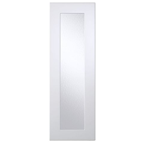 Cooke & Lewis Raffello High Gloss White Slab Tall Glazed Door (W)300mm