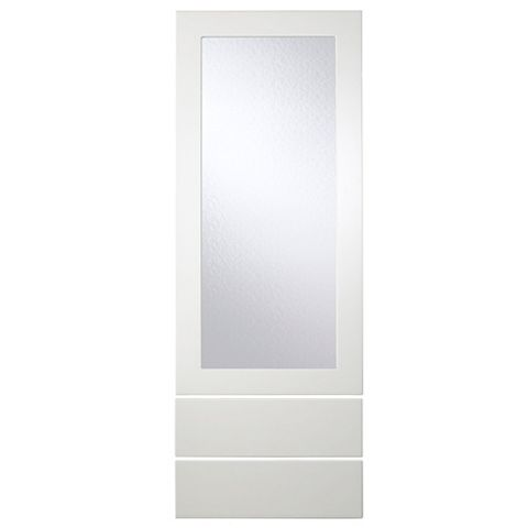 Cooke & Lewis Raffello High Gloss White Slab Tall Dresser Door & Drawer Front (W)500mm, Set of 3