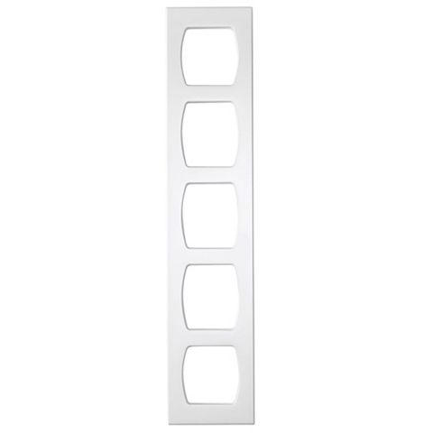 Cooke & Lewis White Contemporary Wine Rack Frame, 150 x 720mm