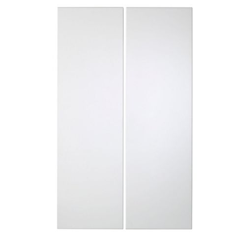 Cooke & Lewis Raffello High Gloss White Tall Corner Wall Door (W)625mm, Set of 2