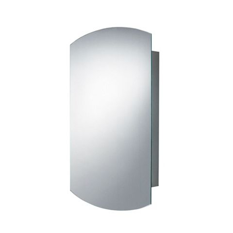 B&Q Fonteno Single Door Silver Mirror Cabinet