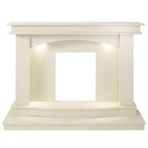 Galaxy Roman Stone Micro Marble Fire Surround Set