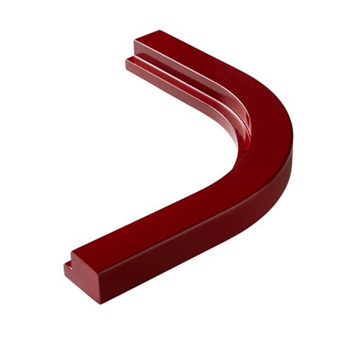 Cooke & Lewis High Gloss Red Cornice/ Pelmet, 363mm