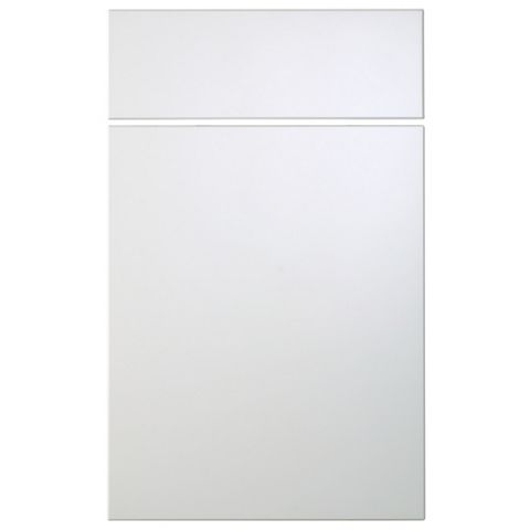 Cooke & Lewis Raffello High Gloss White Slab Drawerline Door & Drawer Front (W)450mm, Set of 2
