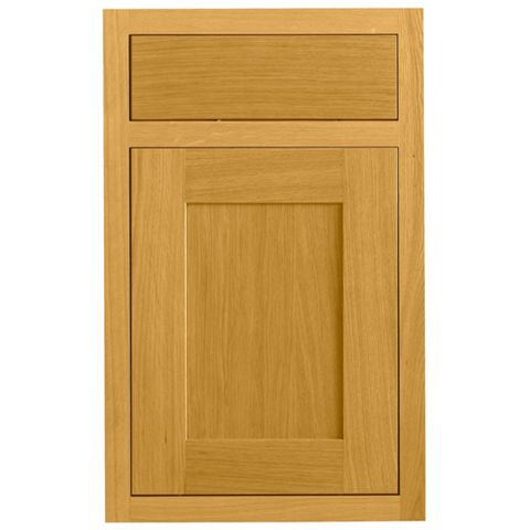 Cooke & Lewis Carisbrooke Oak Framed Drawerline Door & Drawer Front (W)450mm, Set of 1 Door & 1 Drawer Pack