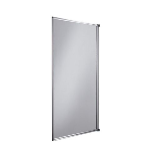 Cooke & Lewis Straight Single Panel Fully Framed Bath Screen (W)750mm